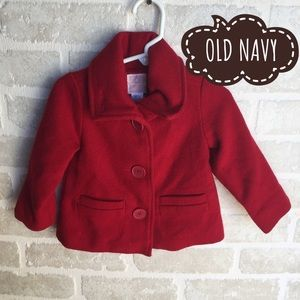 Red Old Navy 18-24 months wool jacket